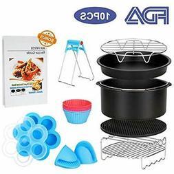 Deep Fryer Parts & Accessories 10 Pcs Air Recipe Cookbook Fo