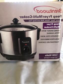 Deep Fryer Pot Brentwood Appliances 5 quart Slow Cooker Save