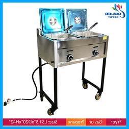 Deep Fryer Propane/gas OUTDOOR Fryer Stainless Portable Grid