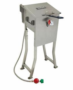 Bayou Classic Deep Fryer Stainless Steel 2.5 Gallon Propane