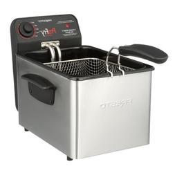Deep Fryer Stainless Steel 3.2 Qt Capacity Cooking Fish Meat