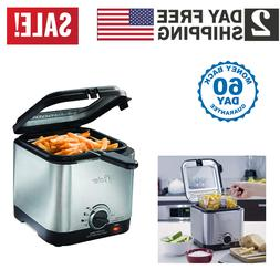 deep fryer stainless steel compact small mini