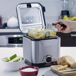 Deep Fryer Stainless Steel Compact Small Mini Electric Home
