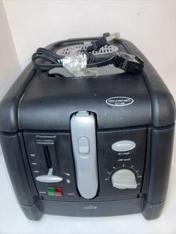 Deep Fryer with Basket Electric Deep By Rival with Cool Wall