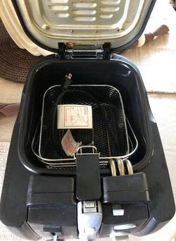 Deep Fryer with Basket  Electric Deep By Rival with Cool Wal