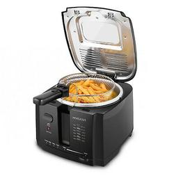 Deep Fryer with Basket Home Electric Deep Fat Cooker w/ 2 Li