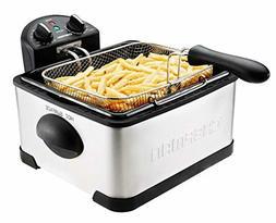 Chefman Deep Fryer with Basket Strainer Perfect for Chicken,