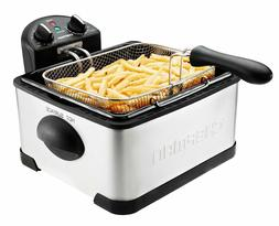 Chefman Deep Fryer with Basket Strainer Perfect Stainless St