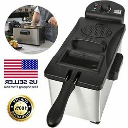 Deep Fryers For The Home With Basket 3.5 Quart Stainless Ste