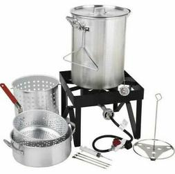 deluxe aluminum turkey fryer kit