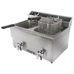 Adcraft DF-12L/2 Commercial Countertop Deep Fat Fryer 220V S