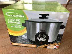 Brentwood DF-706 Electric Deep Fryer & Multi Cooker, 5.2 Qua