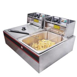 Double Stainless Steel Deep Fryer 12L by GC Global Direct