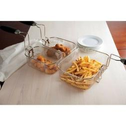 dual deep fryer 4l stainless steel professional