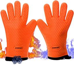 """NEW 11"""" Durable Cooking Gloves Grilling Heat Resistant Water"""