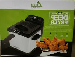 ECO+CHEF 6 Cup Stainless Steel DEEP FRYER   Brand new in Box