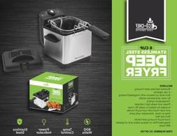 ECO+CHEF 6 Cup Stainless Steel DEEP FRYER   BRAND New