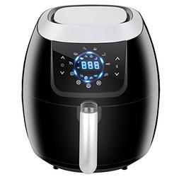 Super Deal PRO 5.8 Quarts Electric Air Fryer Family Size 8-i