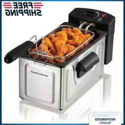 Electric Deep Fryer 2-Liter Fast Cook Fried Food Countertop