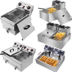 Electric Deep Fryer Commercial Tabletop Restaurant Frying Ba