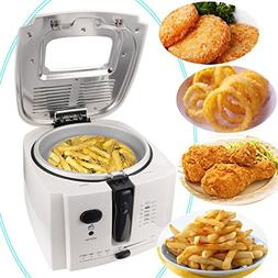 Meykey Electric Deep Fryer with Cool Touch 1.9 Liter Oil Cap