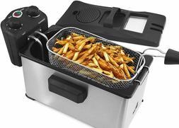 Electric Deep Fryer Timer Temperature Knobs 3.5 Quart Nonsti