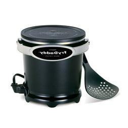 Electric Deep Fryer Presto Non Stick Snap On Lid Compact Han