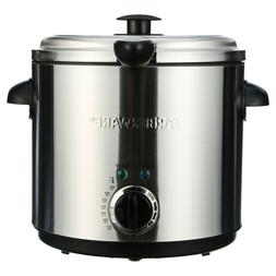 Electric Deep Fryer Round Countertop 1.9L Oil Fries Fat Fry