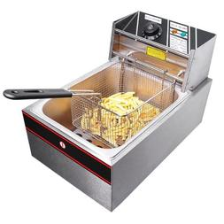 Commercial Stainless Steel 2500W Electric Countertop Fat 6 L