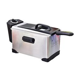 Electric Deep Fryer Stainless Steel Temperature Control 3 1/