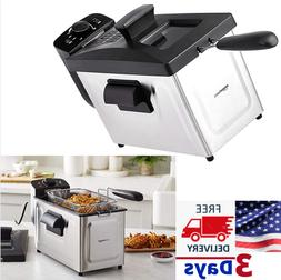 Hamilton Beach 8 Cup Fast Cooking Stainless Steel Deep Fryer
