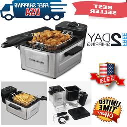 Electric Deep Fryer Stainless Steel With Frying Basket Fryin