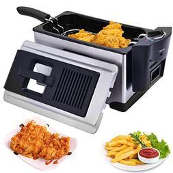 Costzon Electric Deep Fryer, 1600W 3.3 Liter Stainless Steel