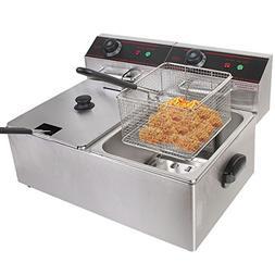 Safstar Professional Electric Deep Fryer, Stainless Steel Ch