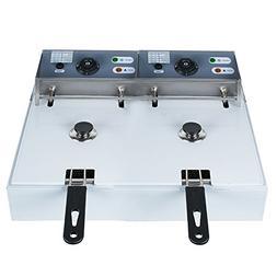 Enshey 5000W Electric 16L Dual Tanks Deep Fryer Professional