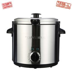 Electric Round Deep Fryer Countertop 1.9L Oil Fries Fat Fry