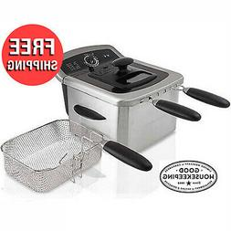 Electric Stainless Steel Deep Fryer 4L Oil Home Cooking Coun