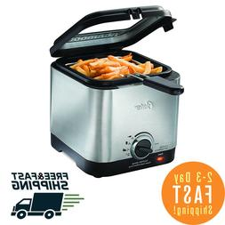 Oster Electric Style Compact Stainless Deep Fryer With Baske
