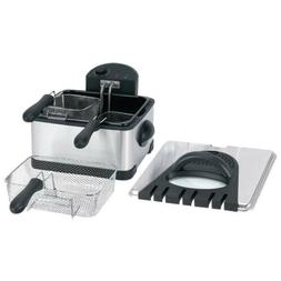 Electrical Deep Fryer 4qt. with 2 Small & 1 LARGE Basket EAS
