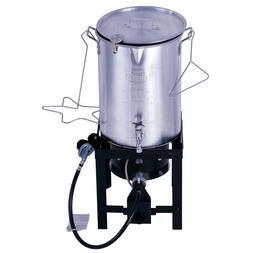 Expert Grill 30QT DurableSteel Base Turkey Fryer With Rack L
