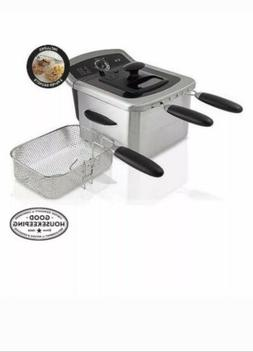 Farberware 4L DUAL Deep Fryer stainless steel 3 frying baske