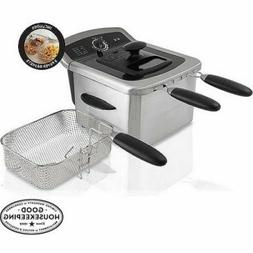 Farberware 4L Large Capacity Easy to Clean Deep Fryer, Stain