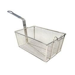 """Wincо FB-35 Nickel-Plated Fry Basket 13-3/8"""" with Gray Coat"""