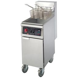 MyEasyShopping Floor Model Electric Fryer, 40 lbs, Stainless