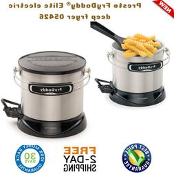 Fry Daddy Elite 4 Cup Electric Deep Fryer Brushed Stainless