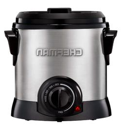 Chefman Fry Guy Deep Fryer with Removable Basket, Easy-to-Cl