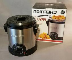 Chefman Fry Guy Deep Fryer with Removable Basket, New in Box