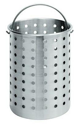 Fry Pot Basket 30 Quart Aluminum Deep Fryer Frying Steam Boi