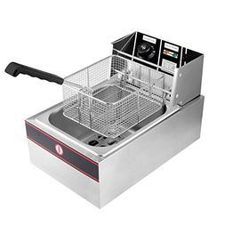 ARKSEN 2500W 6-Liter Electric Countertop Deep Fryer Adjustab