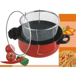 Gourmet Chef 4.5 Qt. Non Stick Deep Fryer With Frying Basket